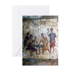 Pompeii Gamblers Greeting Card