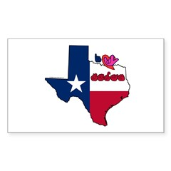 ILY Texas Decal