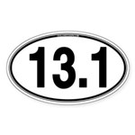13.1 Euro Oval Sticker (Oval 10 pk)