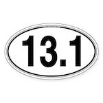 13.1 Euro Oval Sticker (Oval 50 pk)
