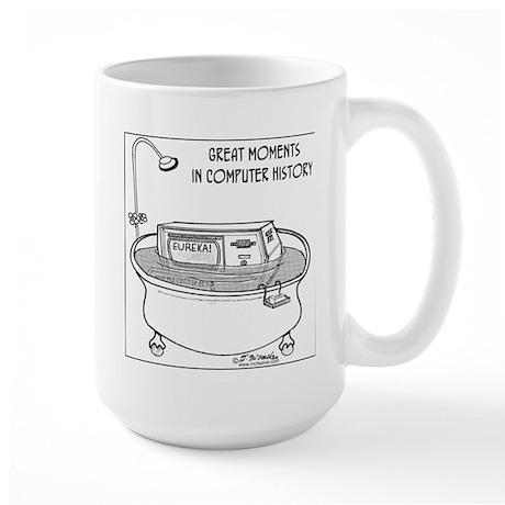 Computer in Tub Shouts Eureka Large Mug