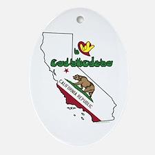 ILY California Ornament (Oval)