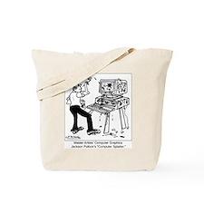 Jackson Pollock' Computer Graphics Tote Bag