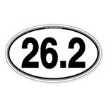 26.2 Euro Oval Sticker (Oval 50 pk)