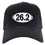 26.2 Euro Oval Black Cap