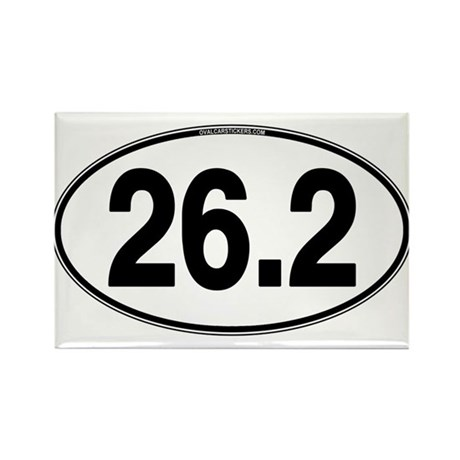 26.2 Euro Oval Rectangle Magnet