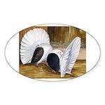 Saddle Fantails Oval Sticker