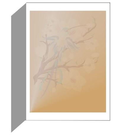 Blue Hummingbird and Cherry B Greeting Cards (Pk o
