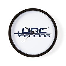UNC Fencing Wall Clock