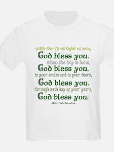 Irish Blessing--God Bless You Kids T-Shirt