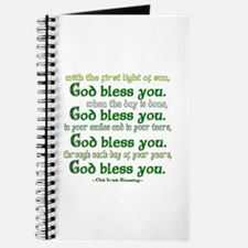 Irish Blessing--God Bless You Journal