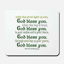 Irish Blessing--God Bless You Mousepad