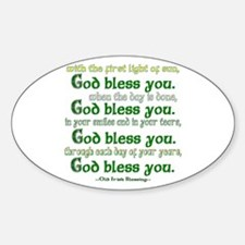 Irish Blessing--God Bless You Decal