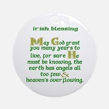 Angels Overflowing Ornament (Round)