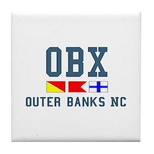 Outer Banks NC - Nautical Design Tile Coaster