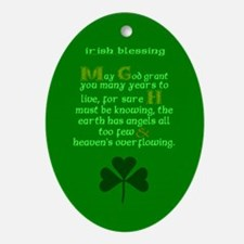 Many Years Live Irish Blessing 2 Ornament (Oval)