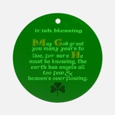 Many Years Live Irish Blessing 2 Ornament (Round)