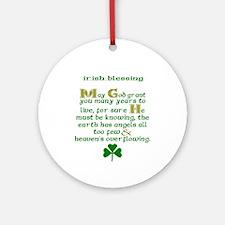 Many Years to Live Irish Blessing Ornament (Round)