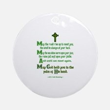 Road Rise Meet You Irish Blessing Ornament (Round)