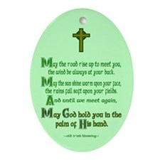 Road Rise Irish Blessing Ornament (Oval)