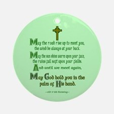 Road Rise Irish Blessing 2 Ornament (Round)