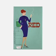 Mad Men Red Magnet