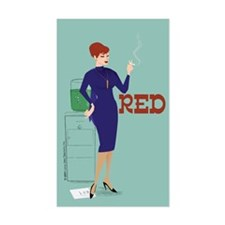 Mad Men Red Decal