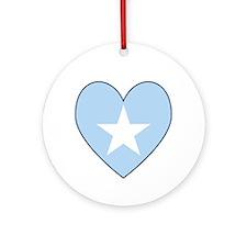Somalia Flag Heart Shaped Ornament (Round)