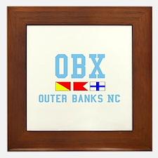 Outer Banks NC - Nautical Design Framed Tile