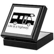 """Life is a highway."" RV Keepsake Box"