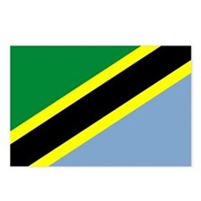 Tanzanian Flag 4 Postcards (Package of 8)