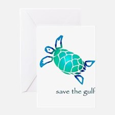 save the gulf - sea turtle bl Greeting Card