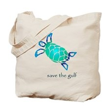 save the gulf - sea turtle bl Tote Bag