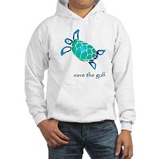save the gulf - sea turtle bl Jumper Hoody