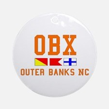 Outer Banks NC - Nautical Design Ornament (Round)