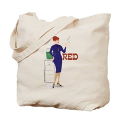 Mad Men Red Tote Bag