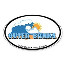 Outer Banks NC - Waves Design Decal