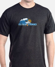 Outer Banks NC - Waves Design T-Shirt