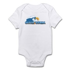 Outer Banks NC - Waves Design Infant Bodysuit