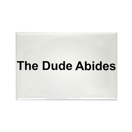 The Dude Abides Rectangle Magnet (100 pack)