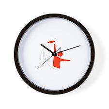 Orange Logo Wall Clock