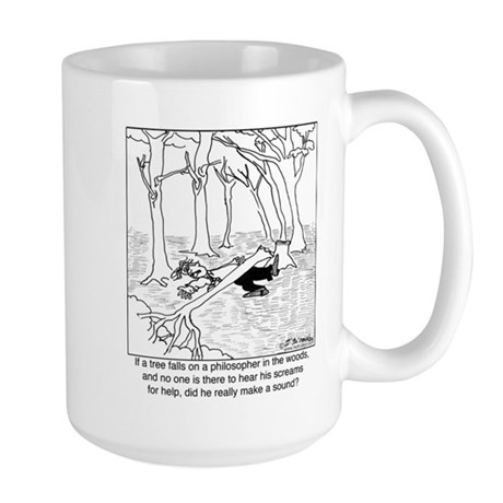 A Philosopher in the Woods Large Mug