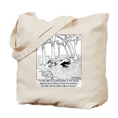 A Philosopher in the Woods Tote Bag