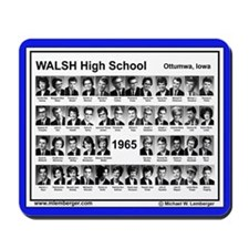 1965, Walsh HS, Ottumwa, Iowa, senior Pix,Mousepad