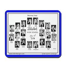 1959 Walsh High School, Ottumwa, Iowa, Mousepad