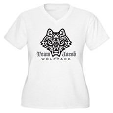 Team Jacob Wolfpack Women's Plus Size V-Neck T-Shi