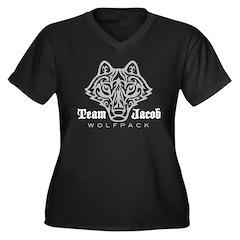 Team Jacob Wolfpack Women's Plus Size V-Neck Dark