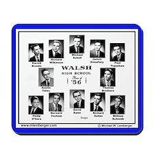 1956 Walsh High School. Ottumwa, Iowa, Mousepad