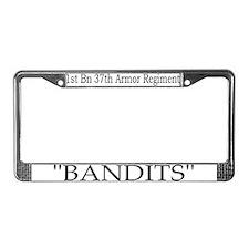 1st Bn 37th AR License Plate Frame
