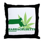 Funny Massachusetts Weed Throw Pillow